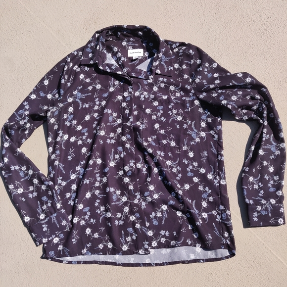 Frank and Oak floral blouse